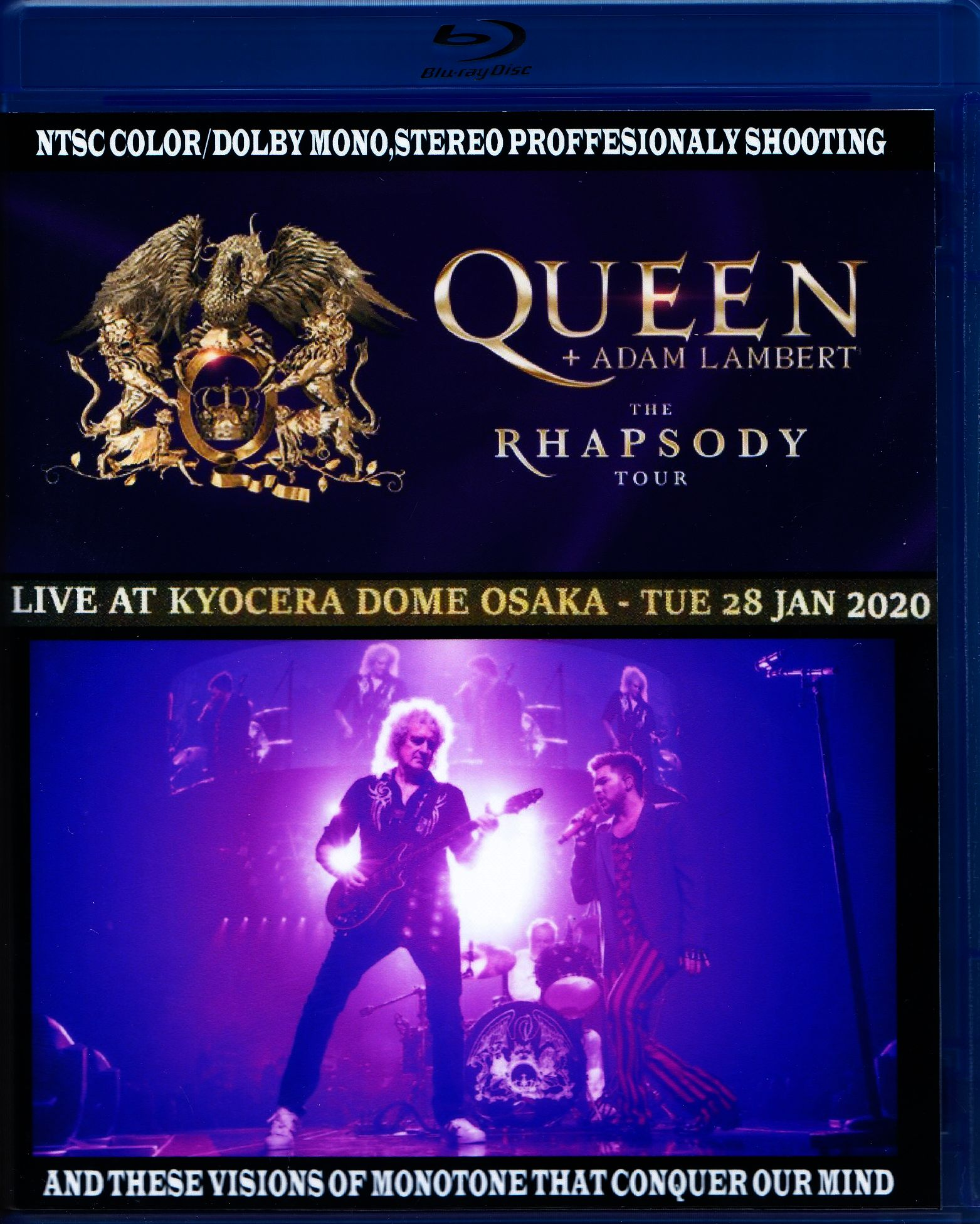Queen,Adam Lambert クィーン アダム・ランバート/Osaka,Japan 2020 Blu-Ray+DVD