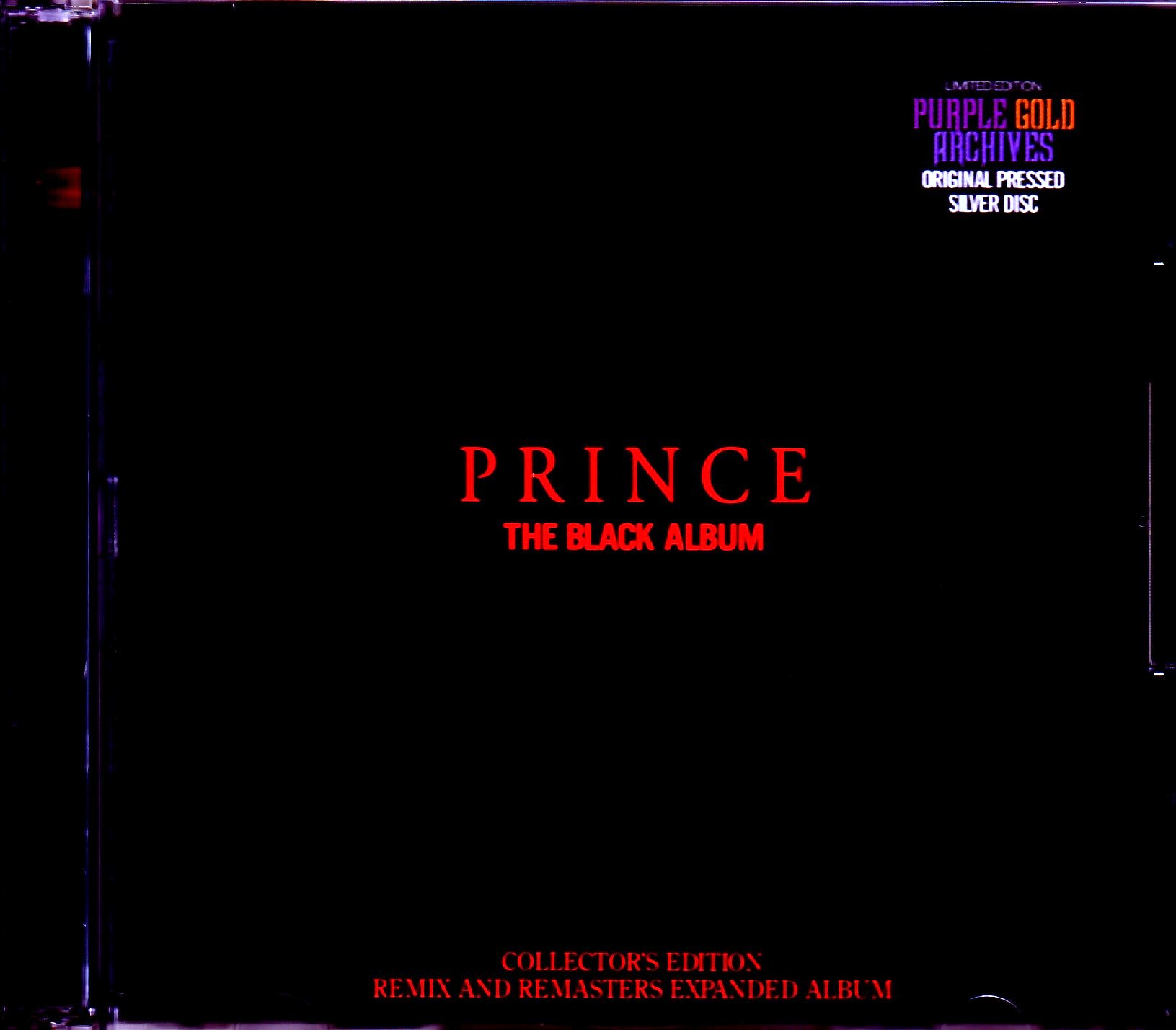 Prince プリンス/The Black Album Remix and Remaster