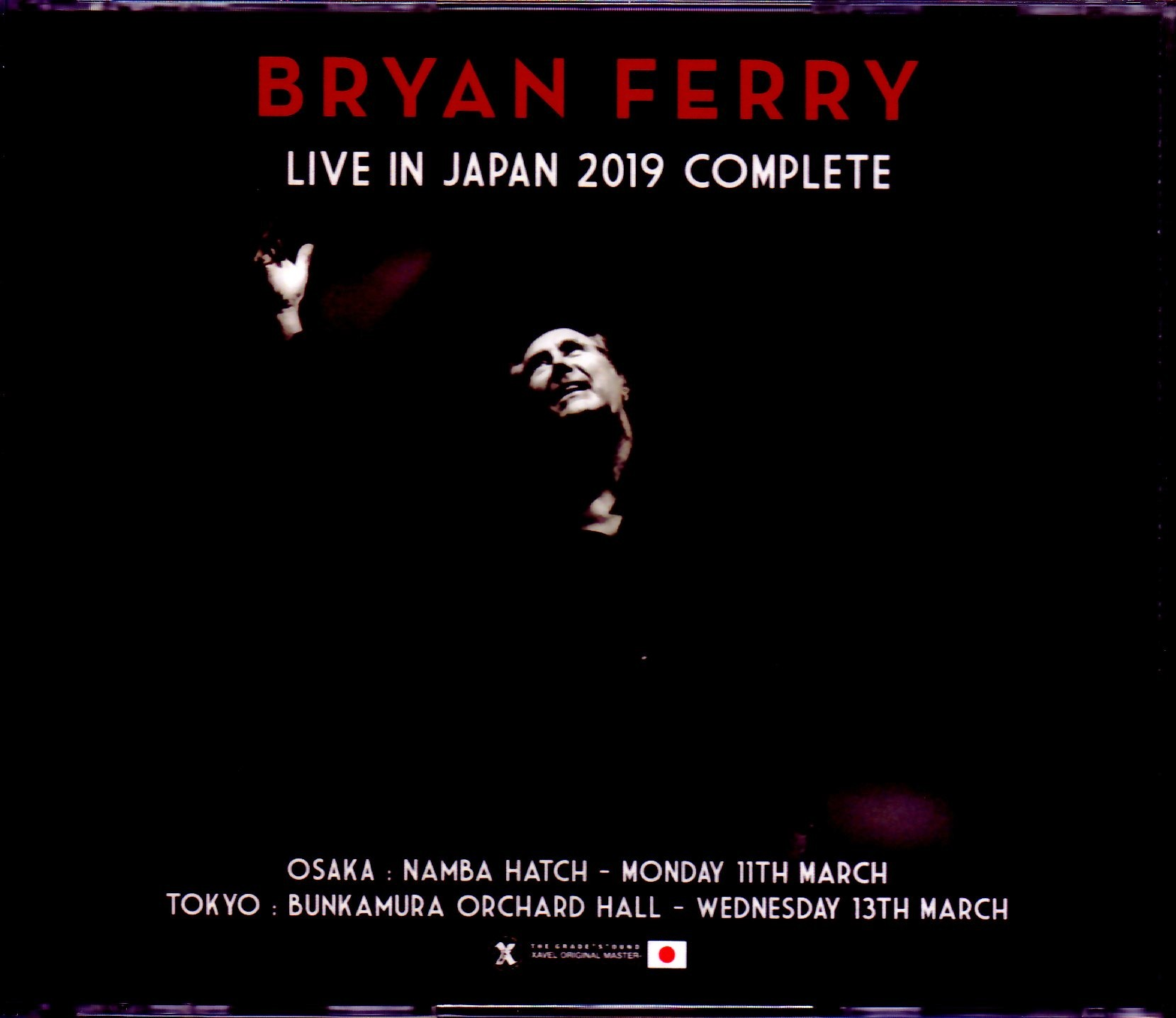 Bryan Ferry ブライアン・フェリー/Japan Tour 2019 Complete IEM Matrix Ver