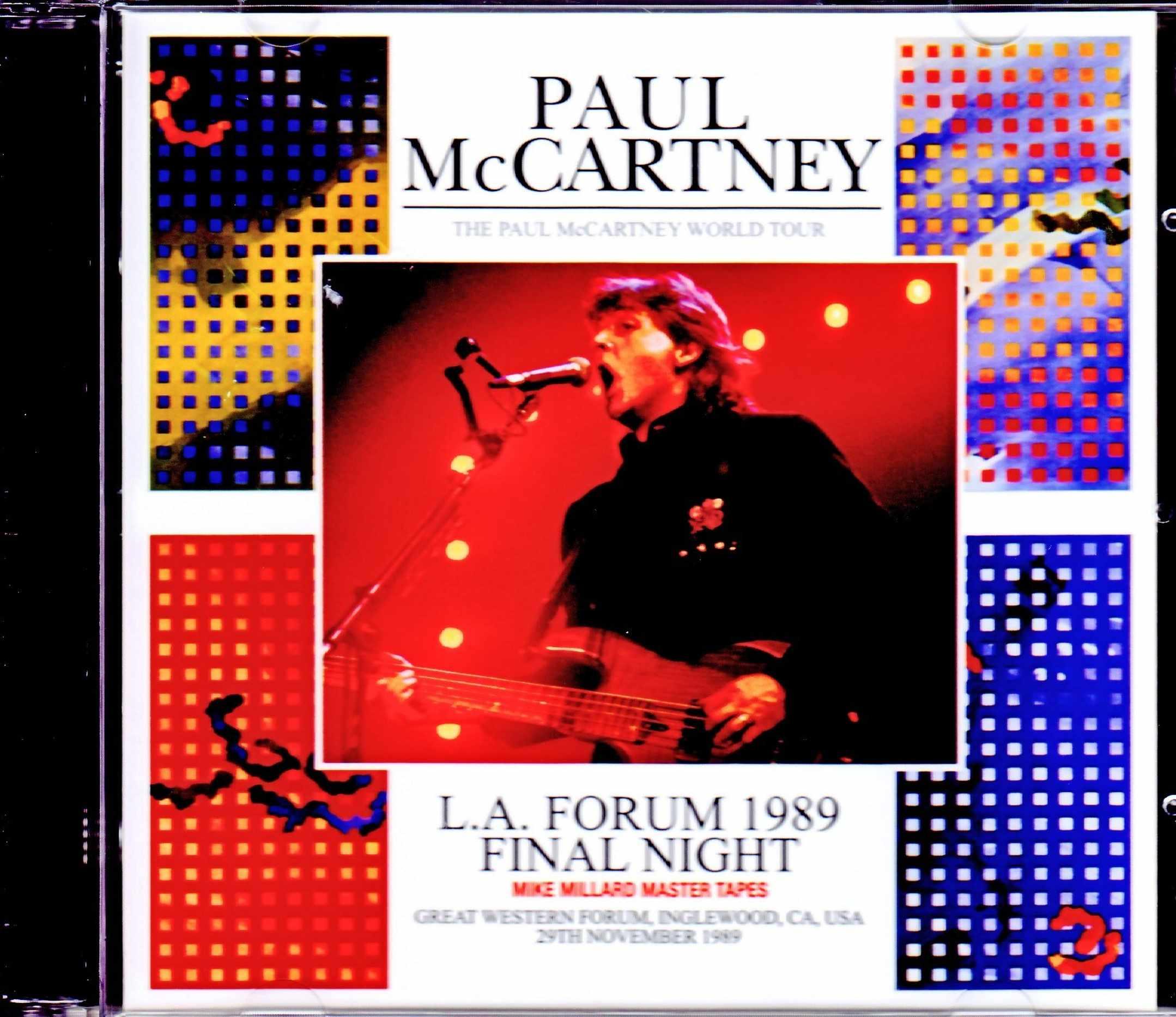 Paul McCartney ポール・マッカートニー/CA,USA 11.29.1989  Remastered