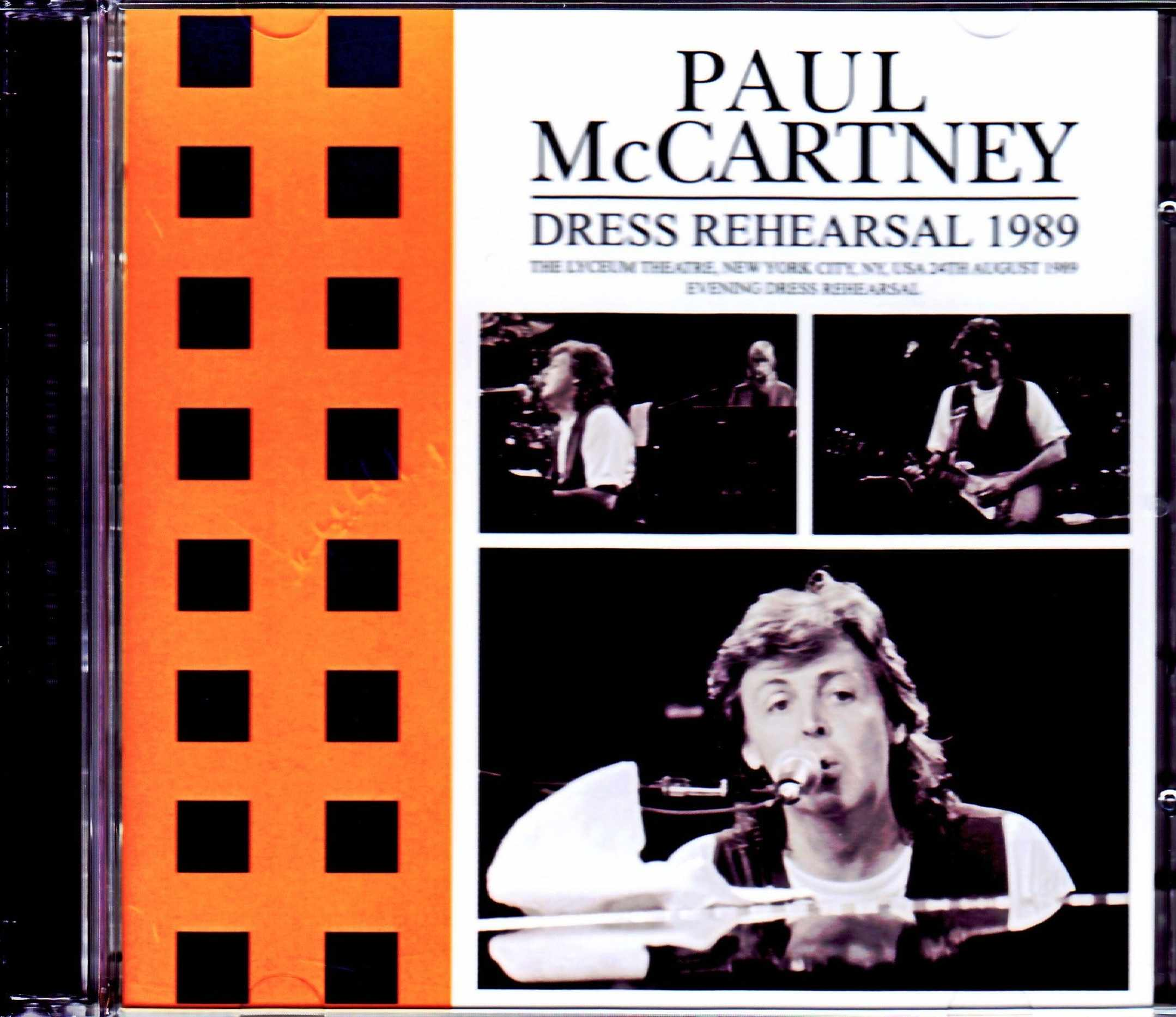 Paul McCartney ポール・マッカートニー/NY,USA 8.24.1989 Evening Dress Rehearsal