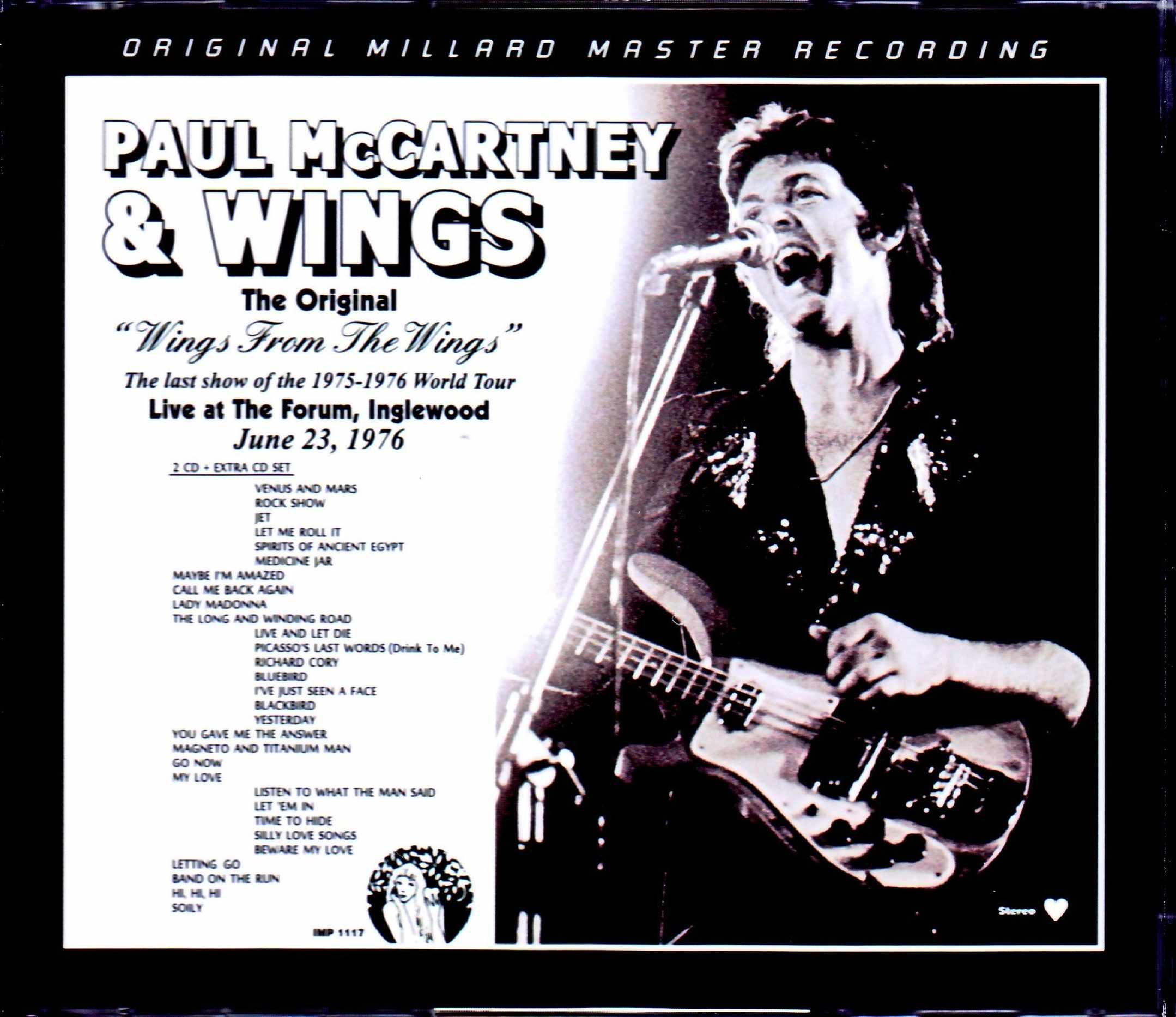 Paul McCartney,Wings ポール・マッカートニー ウイングス/CA,USA 6.23.1976 Millard Master & LP Edition & more