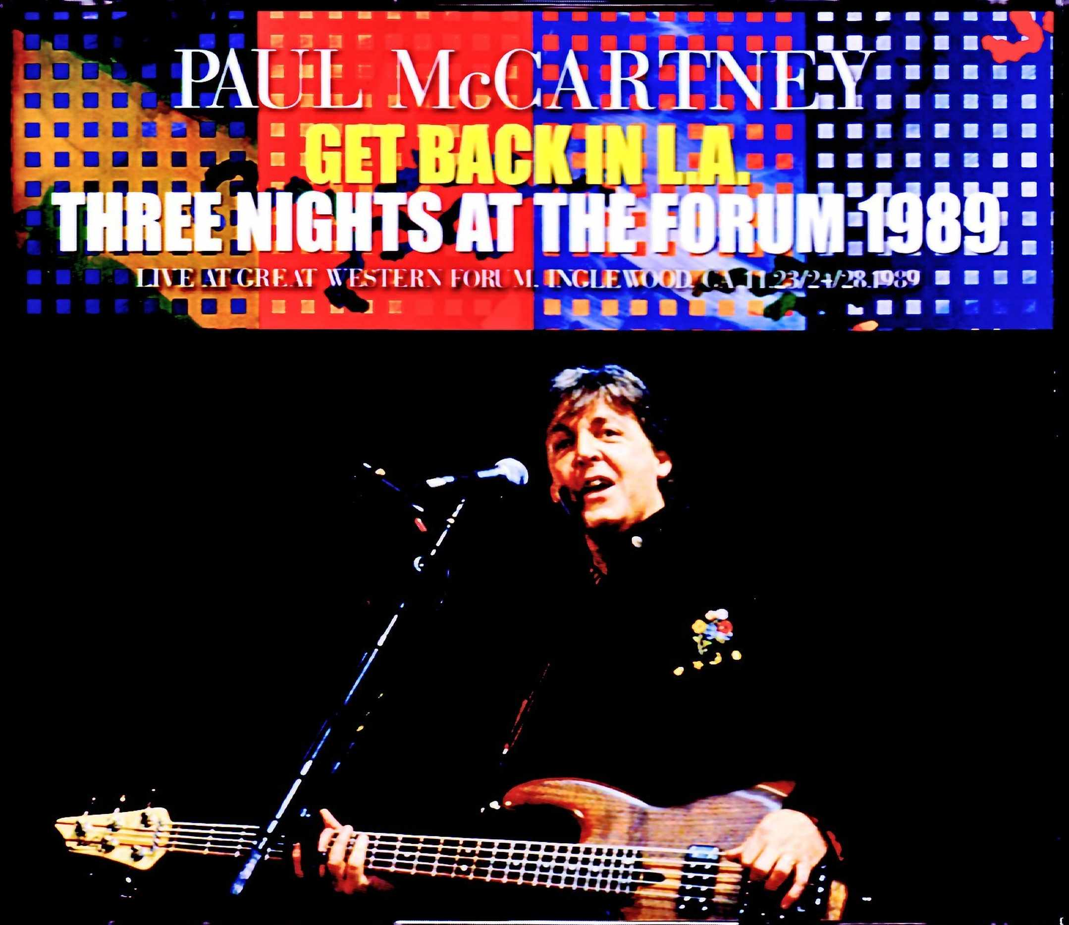 Paul McCartney ポール・マッカートニー/CA,USA 1989 3Days Complete