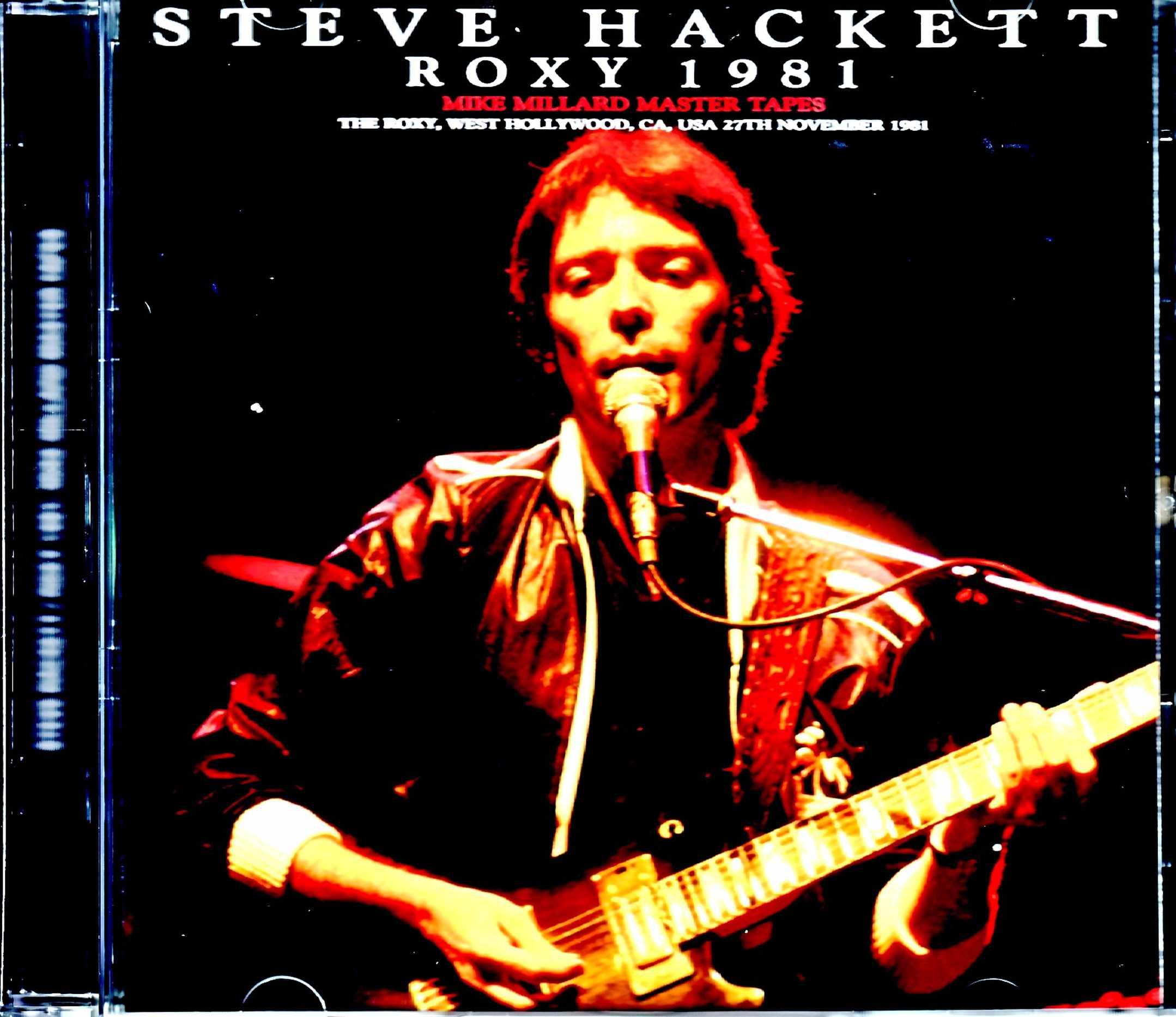 Steve Hackett スティーヴ・ハケット/CA,USA 1981 Mike Millard Master Tapes