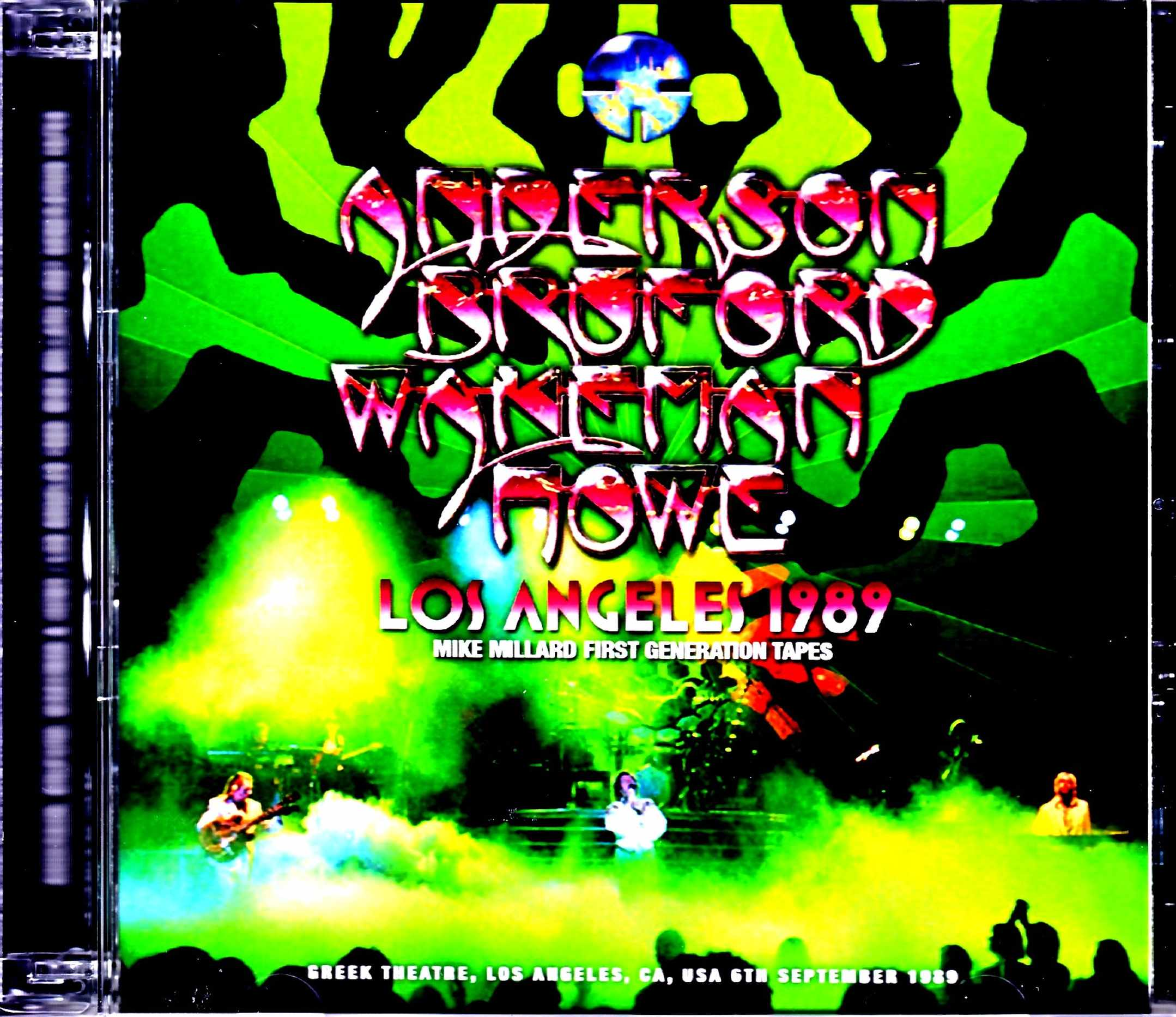 Anderson,Bruford,Wakeman,Howe Yes イエス/CA,USA 1989 Mike Millard 1st Generation Tapes