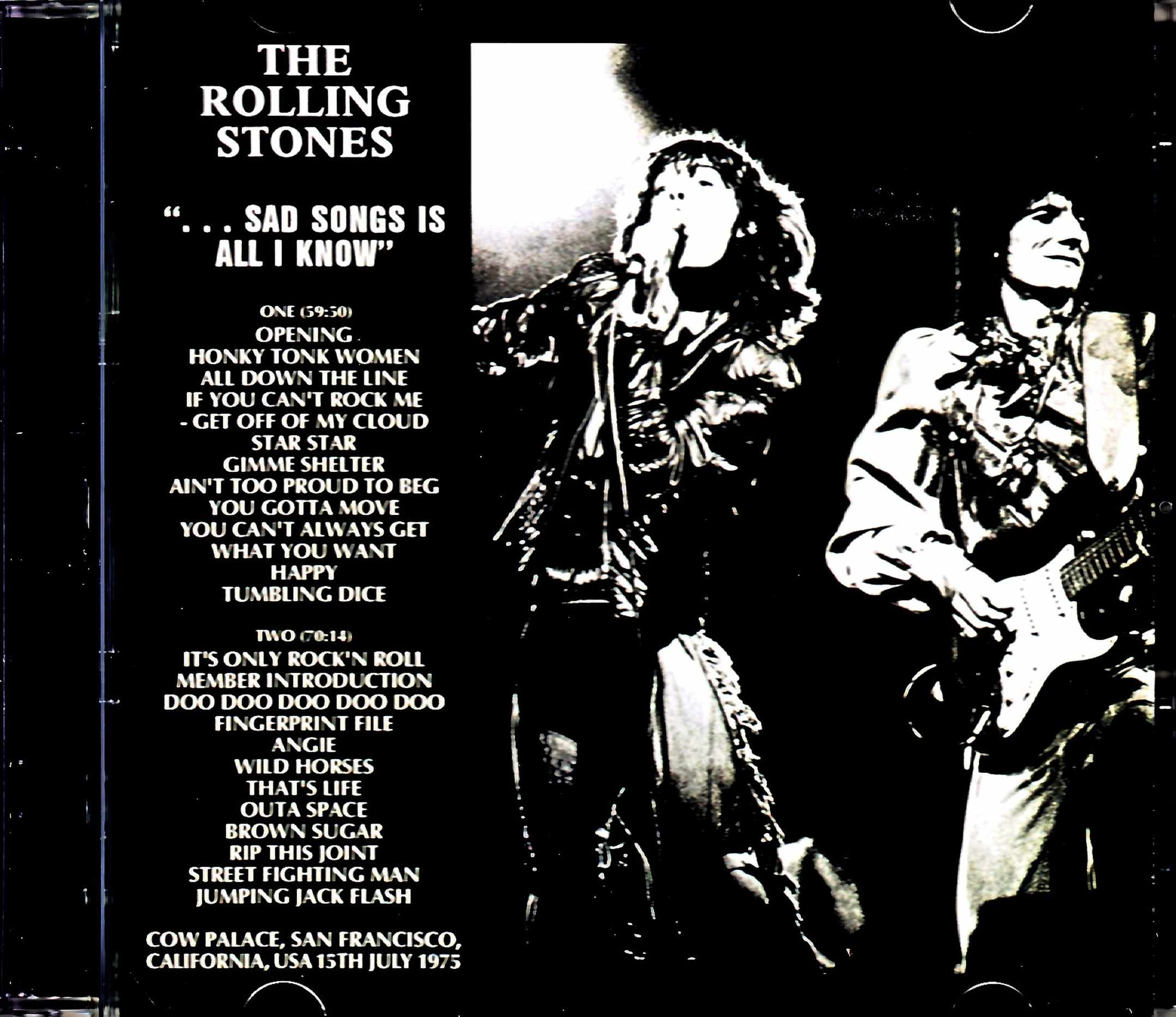 Rolling Stones ローリング・ストーンズ/CA,USA 7.15.1975 Complete Analogue 2LP Edition