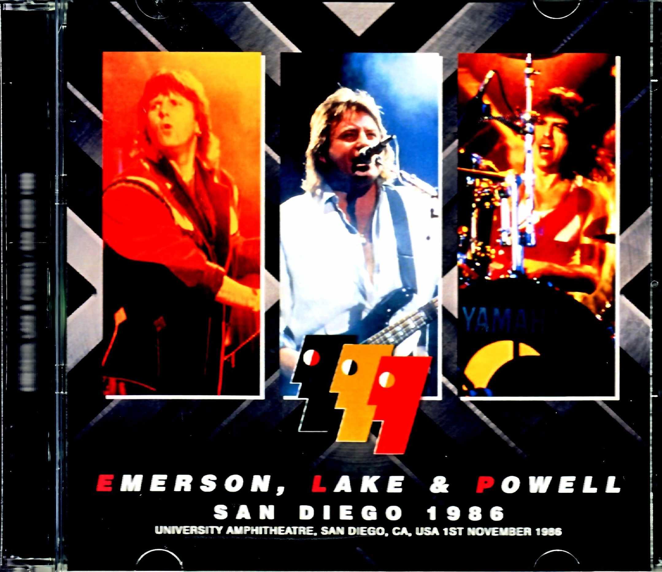 EL & P Emerson,Lake & Palmer エマーソン・レイク・アンド・パーマー/CA,USA 11.1.1986