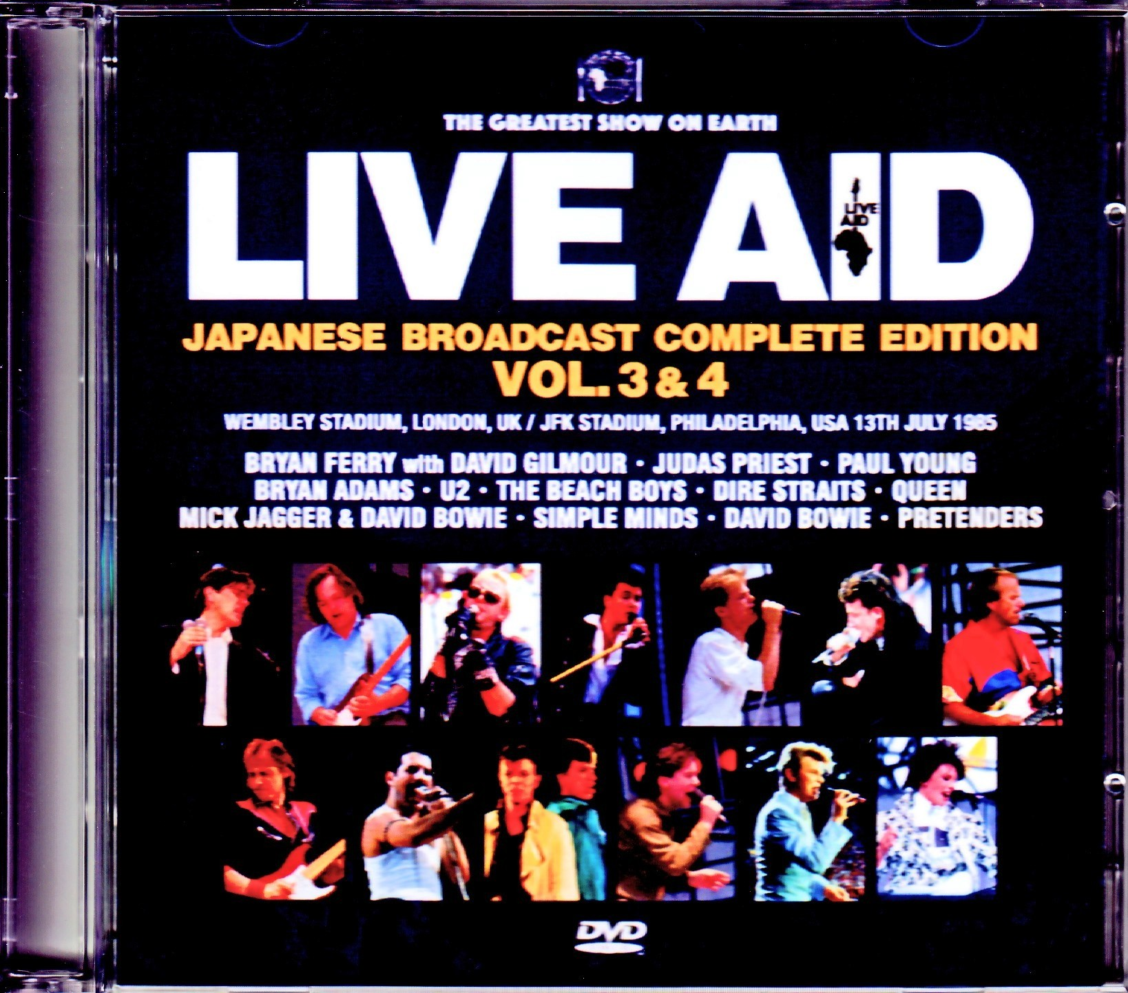 Various Artists Queen,Beach Boys,Dire Straits,David Bowie/London,UK & PA,USA 1985 Japanese Broadcast Complete Vol.3 & 4