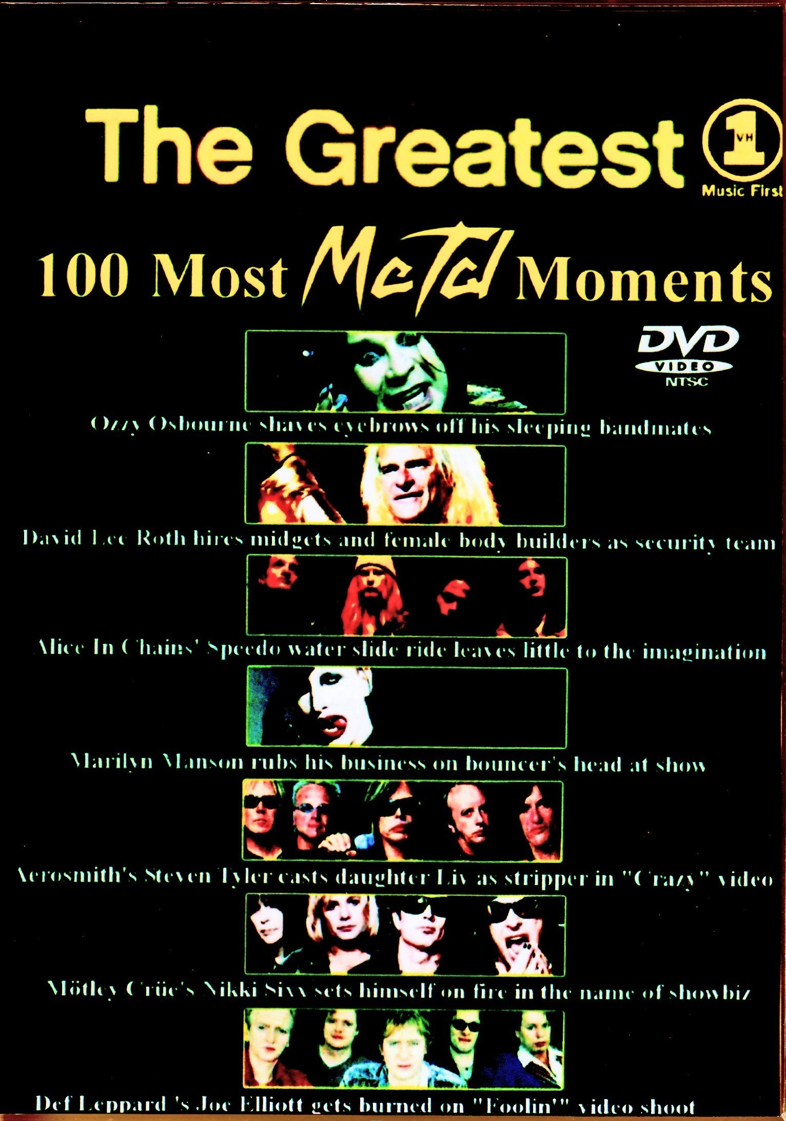 Various Artists Quiet Riot,Kiss,Vince Neil,Warrant,Anthrax,Darkness/Greatest 100 Most Metal Moments