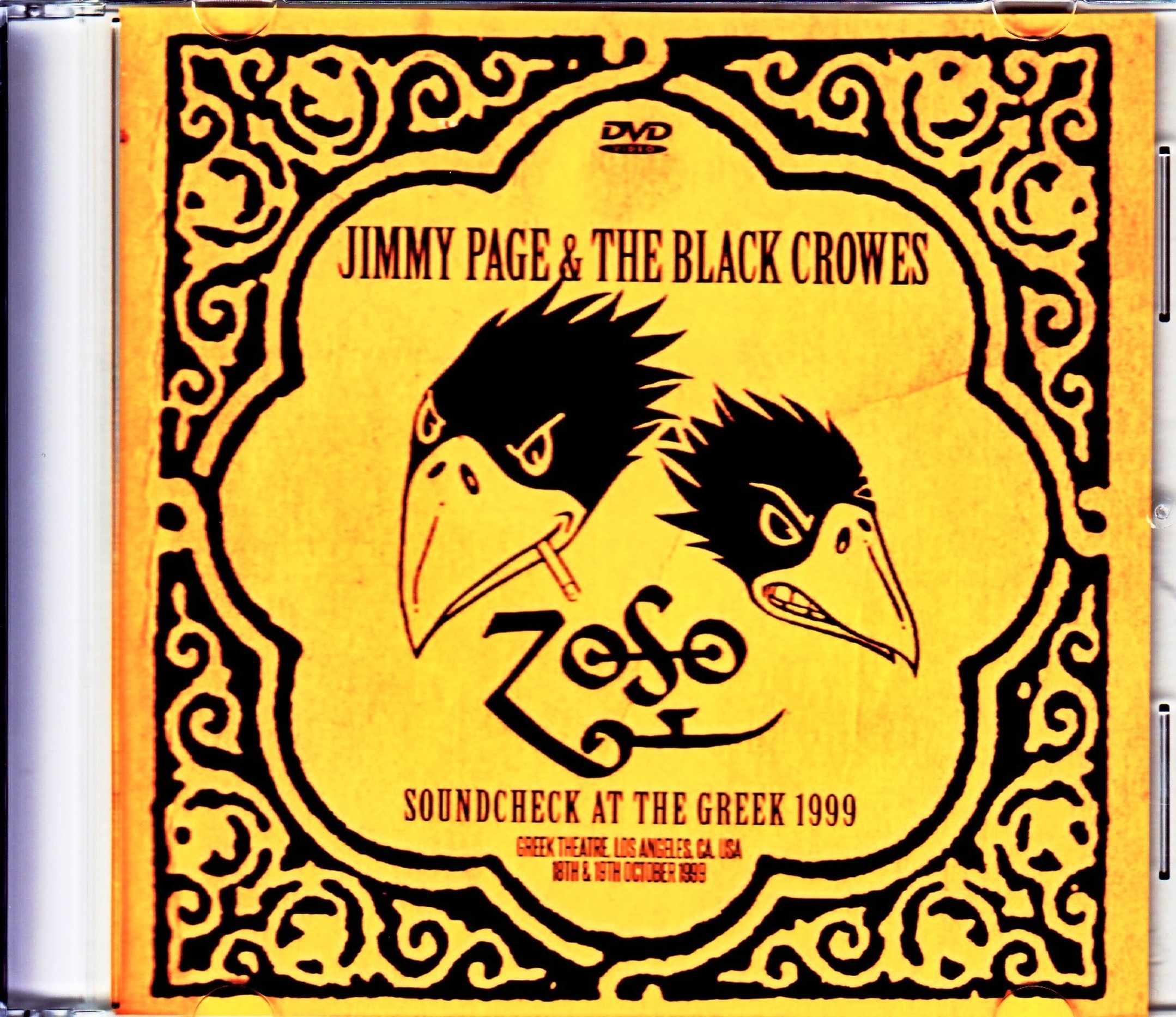 Jimmy Page,Black Crowes ジミー・ペイジ ブラック・クロウズ/CA,USA 1999 2Days Soundcheck