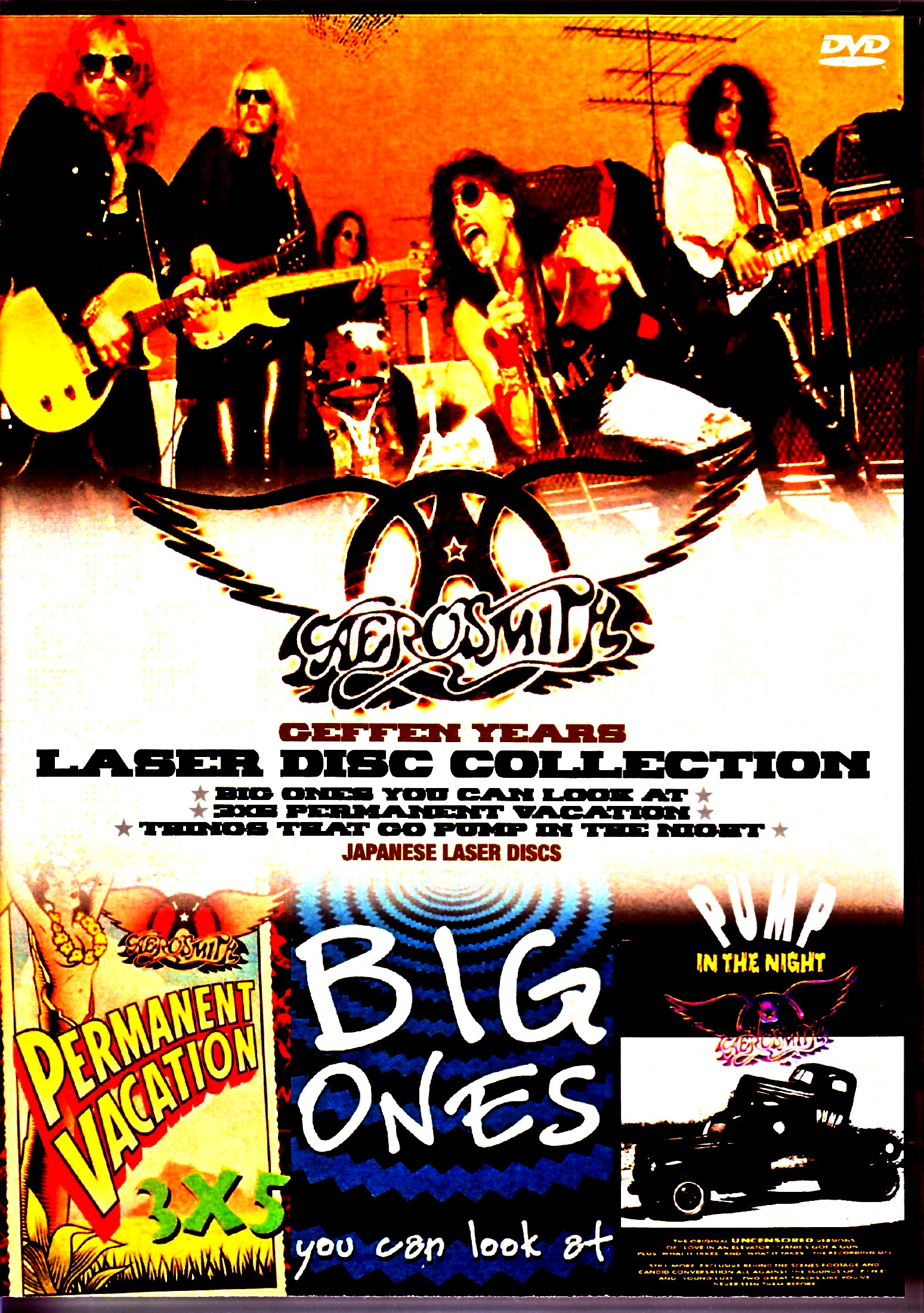 Aerosmith エアロスミス/GEFFEN時代の大ヒット・クリップ集 Japanese Laser Disc Edition