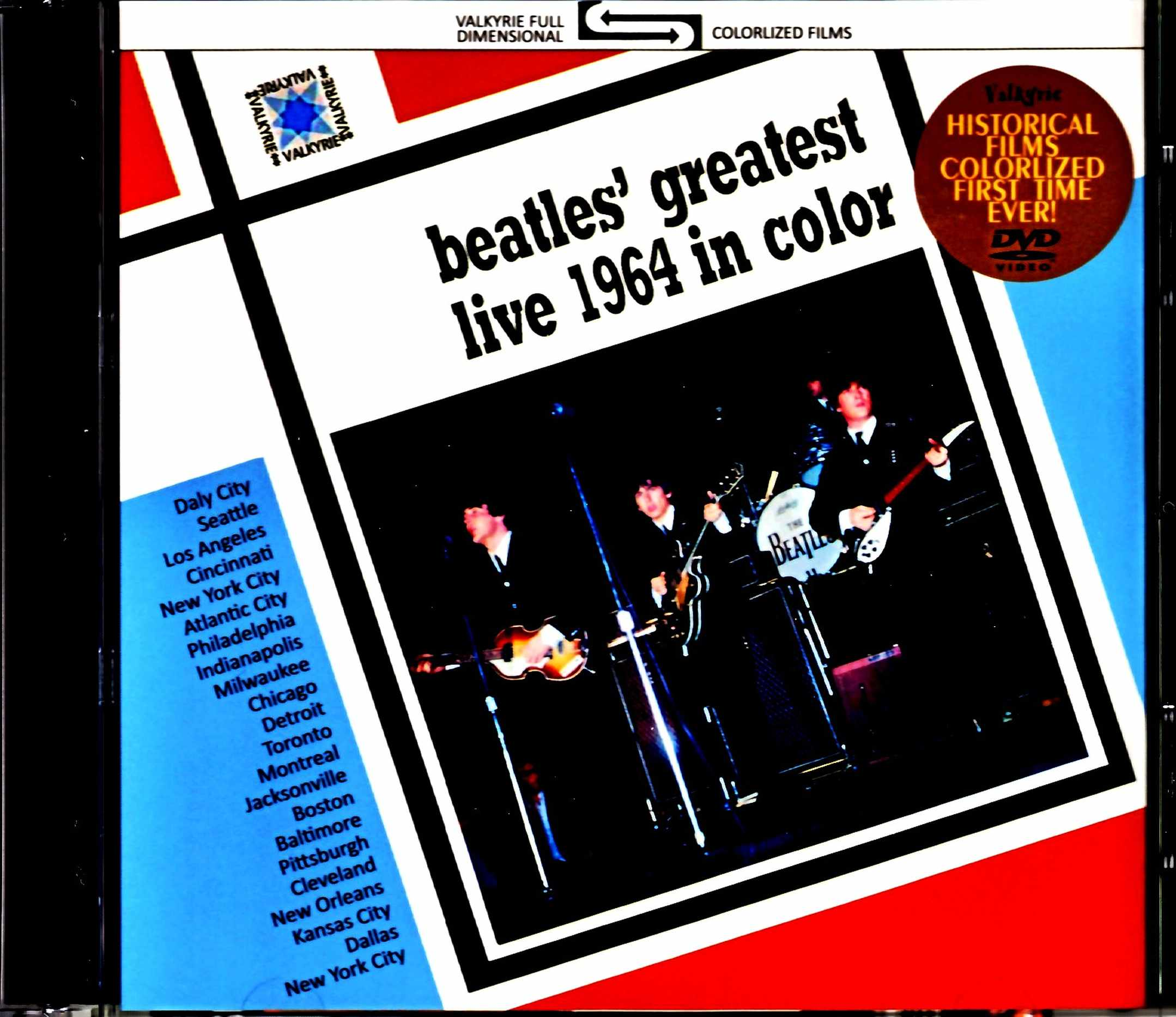 Beatles ビートルズ/北米ツアー ライヴ & ドキュメンタリー・フィルム 1964年 カラー版 North American Tour 1964 in Color