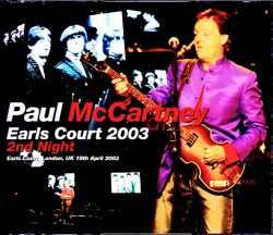 Paul McCartney ポール・マッカートニー/London,UK 2003 Original DAT Master