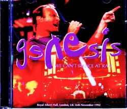 Genesis ジェネシス/London,UK 11.16.1992