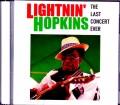 Lightnin' Hopkins ライトニン・ホプキンス/NY,USA 1981