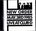New Order ニュー・オーダー/Tokyo,Japan 5.3.1985