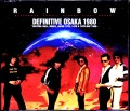 Rainbow レインボー/Osaka,Japan 1980 3 Days