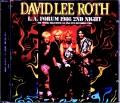 David Lee Roth デヴィッド・リー・ロス/CA,USA 12.20.1986