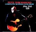 Pete Townshend ピート・タウンゼント/NY,USA 1996
