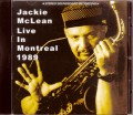 Jackie McLean ジャッキー・マクリーン/Canada 1989