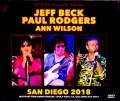 Jeff Beck,Paul Todgers,Ann Wilson ジェフ・ベック ポール・ロジャーズ/CA,USA 2018