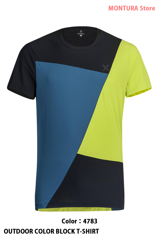 MONTURA OUTDOOR COLOR BLOCK T-SHIRT (MTGN19X)-4783