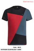 MONTURA OUTDOOR COLOR BLOCK T-SHIRT (MTGN19X)-8610