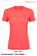 MONTURA OUTDOOR WORLD T-SHIRT WOMAN (MTGN20W)-03F