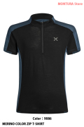 MONTURA MERINO COLOR ZIP T-SHIRT (MTZC12X)-9086