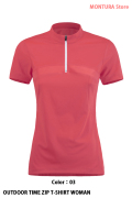 MONTURA OUTDOOR TIME ZIP T-SHIRT WOMAN (MTZN02W)-03