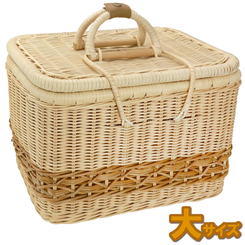 ラパン・ルセットゥ社ラタンボックスバスケット【大サイズ】