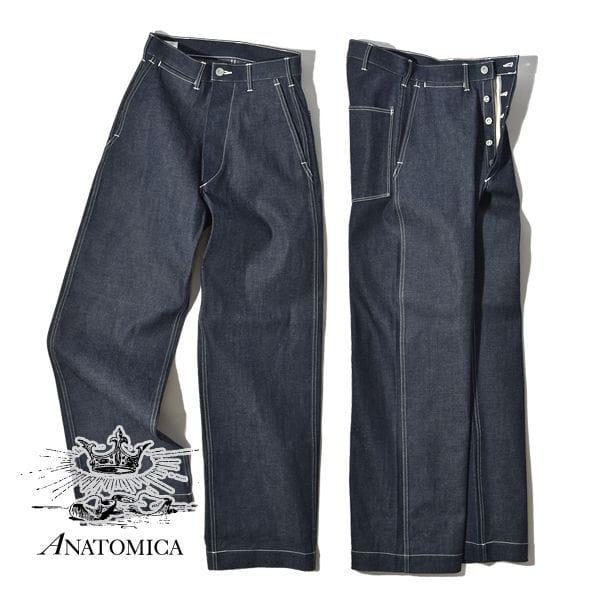 ANATOMICA アナトミカ メンズ ダンガリー パンツ インディゴ ノンウォッシュ パンツ1940 DUNGAREE INDIGO NON WASH デニムパンツ ジーンズ