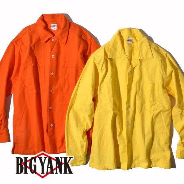 ビッグヤンク 1950 シャモア シャツ オープンカラーシャツ 開襟シャツ 長袖 BIG YANK