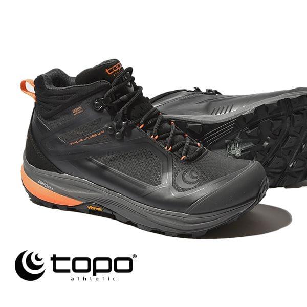 トポ アスレチック トポ トレイルベンチャー ブーツ マウンテンブーツ スニーカー Topo athletic TRAILVENTURE WP ランニングシューズ ハイキング 5002151 メンズ Black/Orange Vibram ビブラムソール