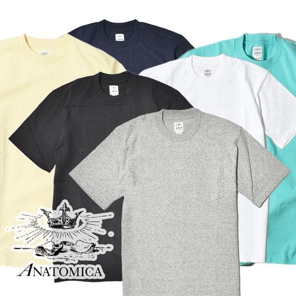 ANATOMICA アナトミカ ポケT ポケTEE 半袖 Tシャツ 無地 カットソー メンズ レディース MADE IN JAPAN 日本製