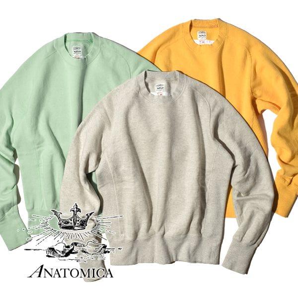 アナトミカ パーカ スウェットシャツ クルーネック メンズ レディース ANATOMICA SWEAT SHIRTS CREW NECK