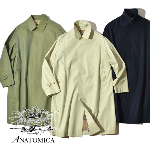アナトミカ シングルラグラン 1 バルマカーンコート ステンカラーコート リバーシブル ギャバジン ツイード シャワープルーフ 撥水性 2way レディース ANATOMICA SINGLE RAGRAN 1