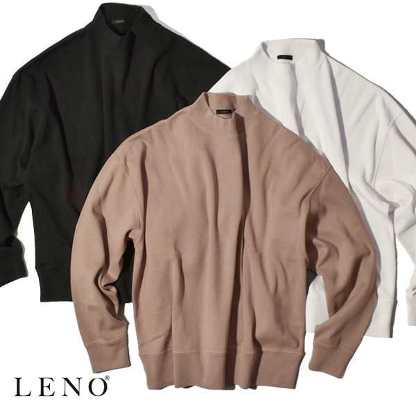 【SALE】LENO リノ MOCK NECK LONG T-SHIRT モックネックロングTシャツ ユニセックス