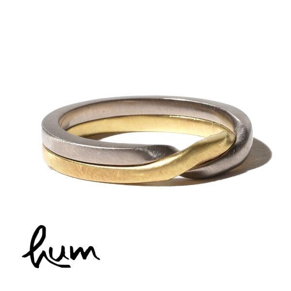 hum ハム ギメルリング 結婚指輪 男性用 グリーンゴールド ホワイトゴールド ゴールド K18 金 et-R31m GG×WG