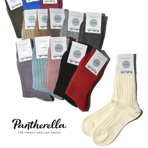 パンセレラ レディース 靴下 メリノ ウール 5×1リブ ソックス J905 PANTHERELLA WOMENS