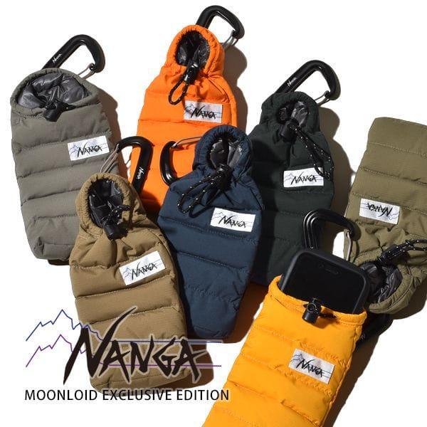 ナンガホワイトレーベル 携帯ケース スマホケース ミニスリーピングバッグ オーロラテックス ライト ストレッチ 防水 NANGA WHITE LABEL MOONLOLID EXCLUSIVE EDITION  AURORA TEX stretch