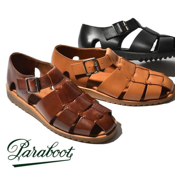 パラブーツ サンダル メンズ Paraboot PACIFIC パシフィック グルカサンダル 革靴 本革 レザー