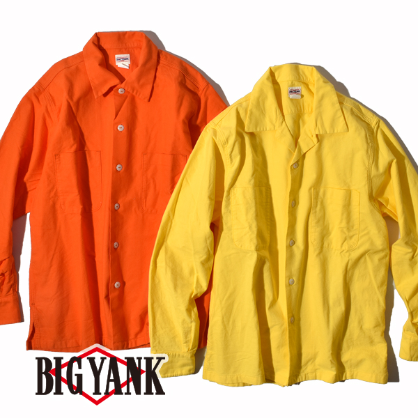 【50%OFF SALE セール】ビッグヤンク 1950 シャモア シャツ オープンカラーシャツ 開襟シャツ 長袖 BIG YANK