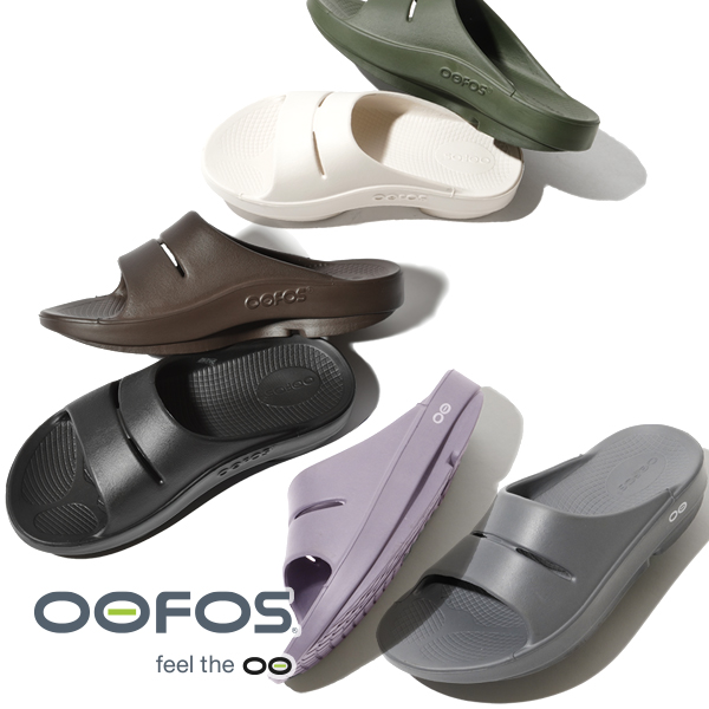 OOFOS ウーフォス メンズ レディース OOahh ウー アー Black Mocha Navy 5020020 ブラック 黒 ネイビー モカ ブラウン