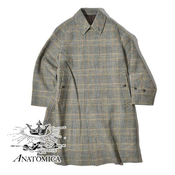 アナトミカ ANATOMICA シングルラグラン 4 シングルラグラン4 SINGLE RAGRAN 4 ツイード サドルツイード バルマカーンコート ステンカラーコート メンズ レディース ユニセックス