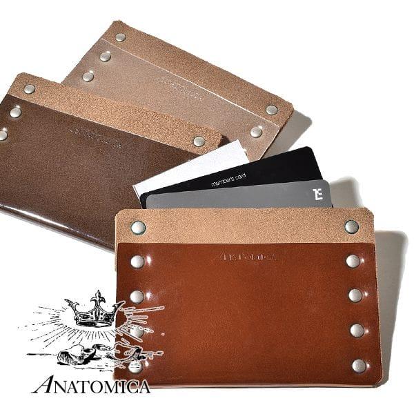 アナトミカ ANATOMICA カードケース クリア レザー 本革 名刺入れ MADE IN JAPAN