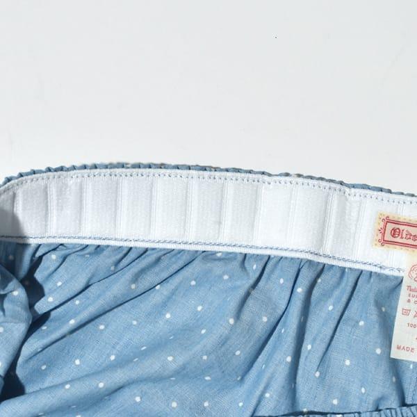 Olde Homesteader  ウーブン ボクサー トランクス WOVEN BOXER インディゴ 抜染 ドット ストライプ ギフト プレゼント  日本製