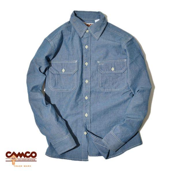 CAMCO カムコ シャンブレー 長袖 ワークシャツ