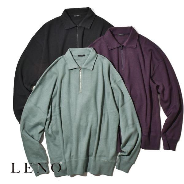 LENO リノ HALF ZIP PULLOVER T-SHIRT ハーフジップ プルオーバー Tシャツ スウェット カットソー レディース メンズ ユニセックス