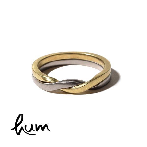 hum ハム ギメルリング 結婚指輪 女性用 グリーンゴールド ホワイトゴールド ゴールド K18 金 et-R30s GG×WG
